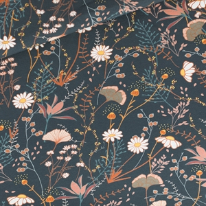 Picture of Flower Field - M - French Terry - Bleu Nuit