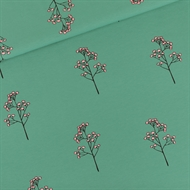 Picture of Blossom Twigs - M - French Terry - Bottle Green