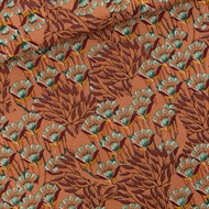 Picture of Gilly Flowers - M - Cotton Canvas Gabardine Twill - Sunburn Brown